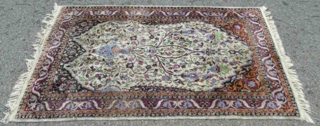 Knotted Wool Blend Persian Style Carpet - 3