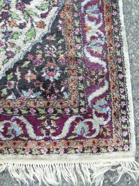 Knotted Wool Blend Persian Style Carpet - 5