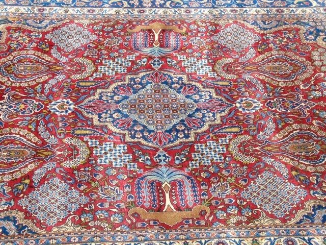 Iranian Ispahan / Kashan 20th C Wool Carpet - 2