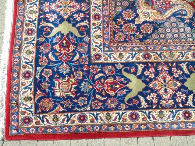 Iranian Ispahan / Kashan 20th C Wool Carpet - 3