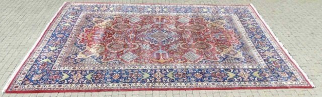 Iranian Ispahan / Kashan 20th C Wool Carpet - 5