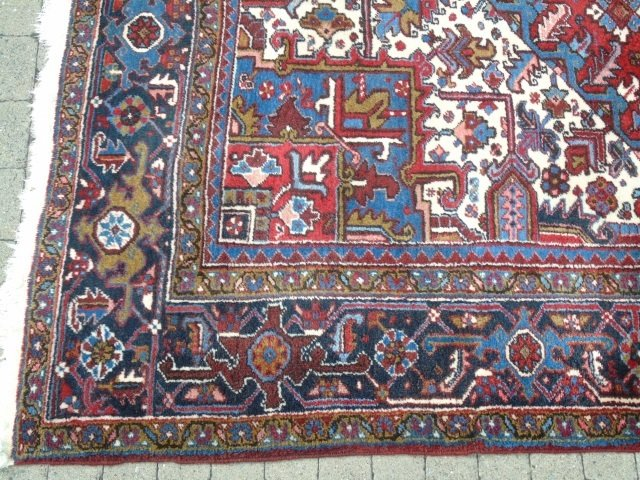 Iranian Persian Heriz 20th C Knotted Wool Carpet - 2