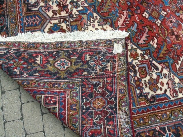 Iranian Persian Heriz 20th C Knotted Wool Carpet - 4