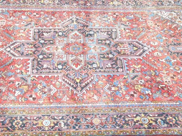 Iranian Persian Heriz 20th C Knotted Wool Carpet - 6