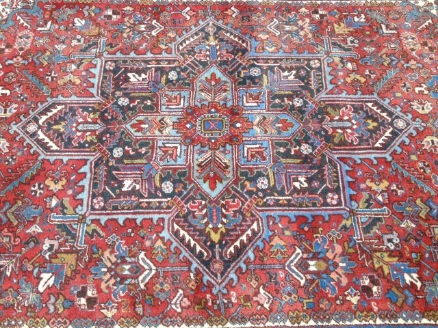 Iranian Persian Heriz 20th C Knotted Wool Carpet - 7