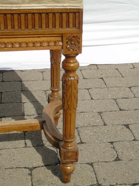Finely Carved French Style Upholstered Bench - 4