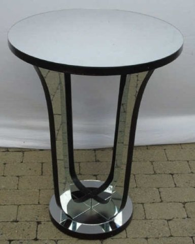 Contemporary Hollywood Regency Mirrored End Table