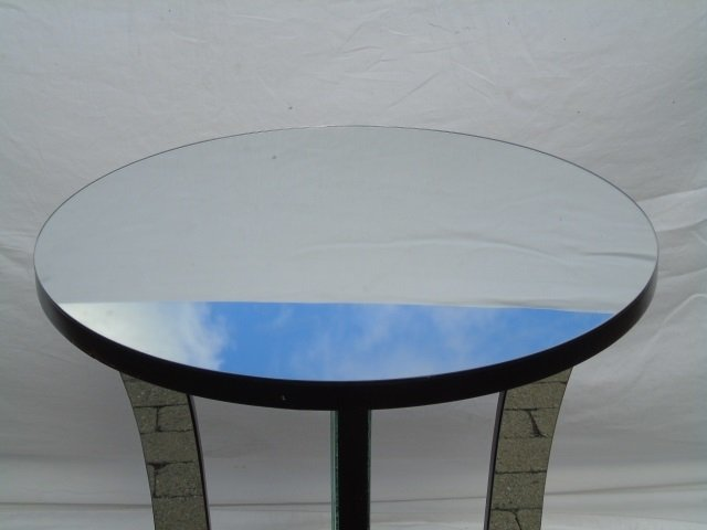 Contemporary Hollywood Regency Mirrored End Table - 4