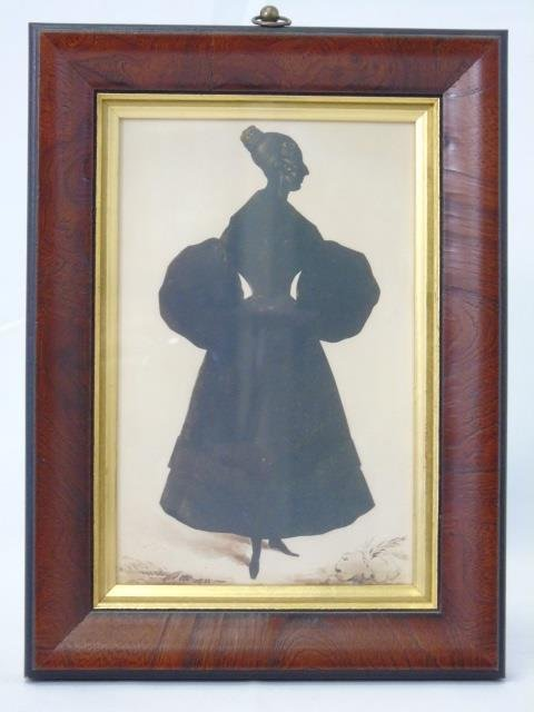 Three Framed English Victorian Style Silhouettes - 6