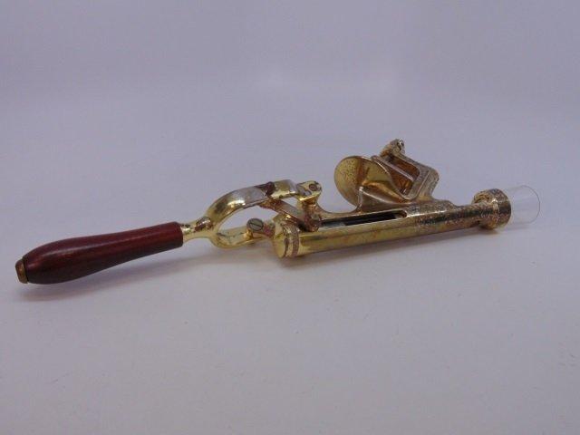 Mid Century Modern Brass Table Clamp Cork Screw - 5