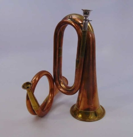 Two Vintage Gilt Brass & Copper Horn Instruments