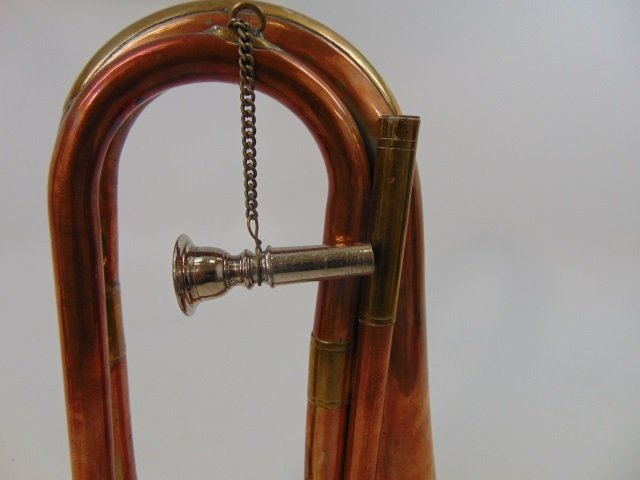 Two Vintage Gilt Brass & Copper Horn Instruments - 5