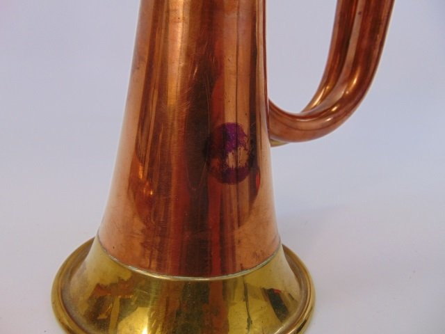 Two Vintage Gilt Brass & Copper Horn Instruments - 6