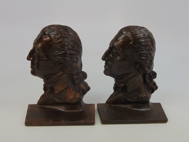 Two Pairs Bookends - George Washington / Indians - 2