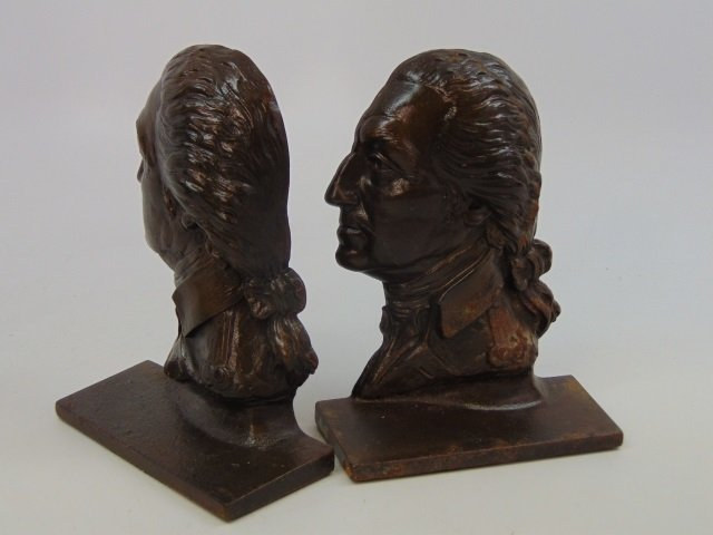 Two Pairs Bookends - George Washington / Indians - 5