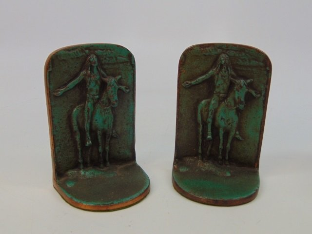 Two Pairs Bookends - George Washington / Indians - 6