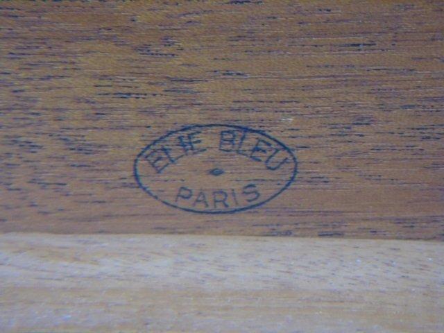 Elie Bleu Paris Burl Wood Cigar Humidor w Key - 6