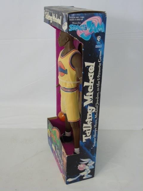 Vintage Michael Jordan Space Jam Toy in Box Talks - 2