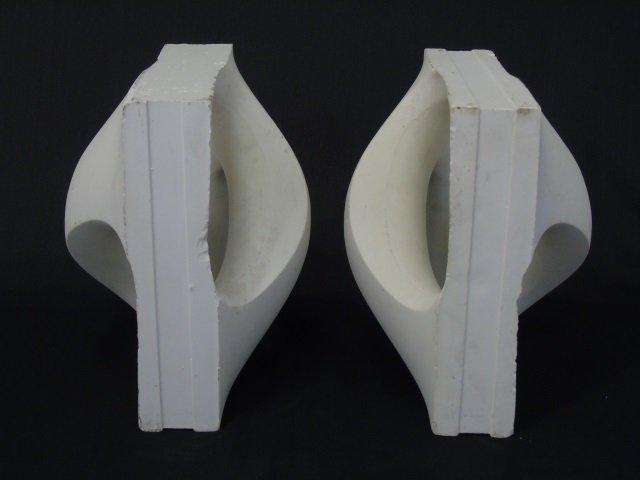 Pair Sculptural Mid Century Book Ends - 3