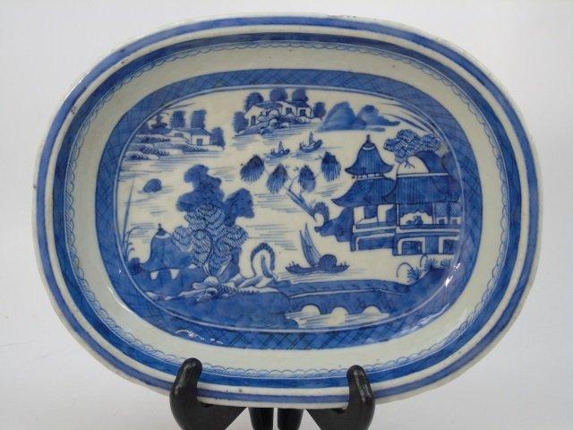 Pair Antique Chinese Canton Porcelain Bowls - 2