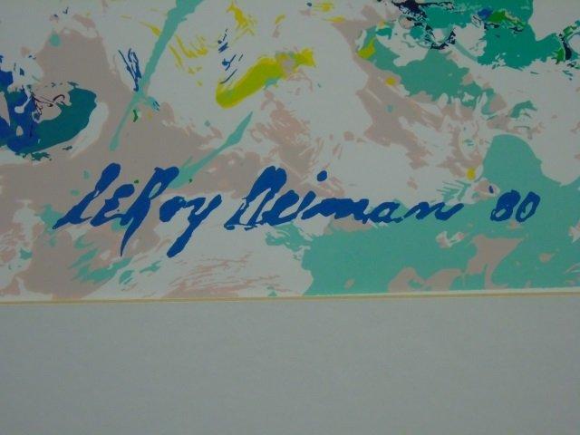 LeRoy Neiman 1980 Framed Print of a Skiier - 3
