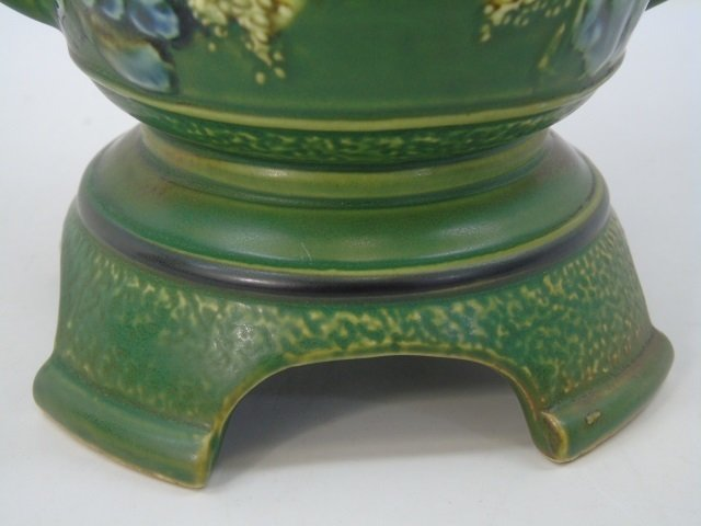 Qing Chinese Green Vase w Elephant Trunk Handles - 6
