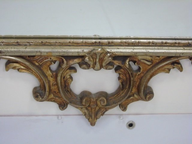 French Rococo Style Gold Scrollwork Mirror - 3