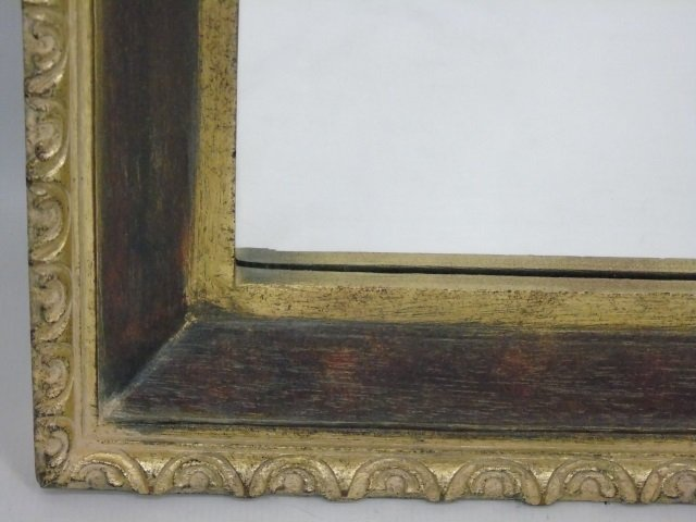 Carved Gilt Wood & Painted Ornate Mirror Frame - 4