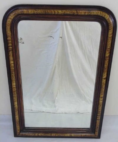 Antique Hand-Painted Louis-Philippe Style Mirror
