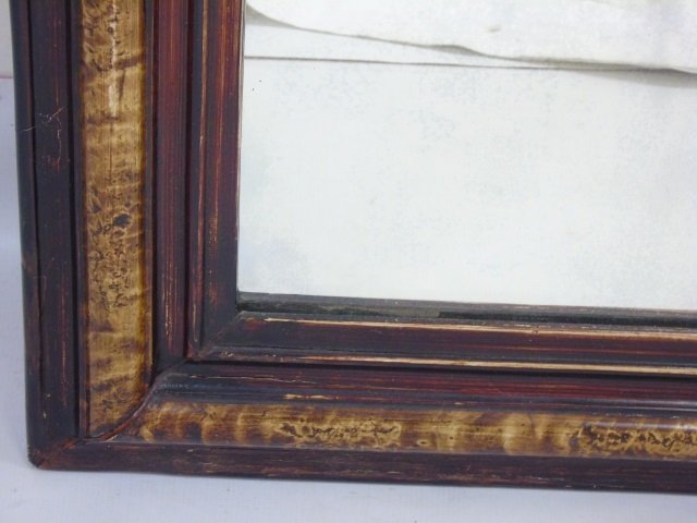 Antique Hand-Painted Louis-Philippe Style Mirror - 2