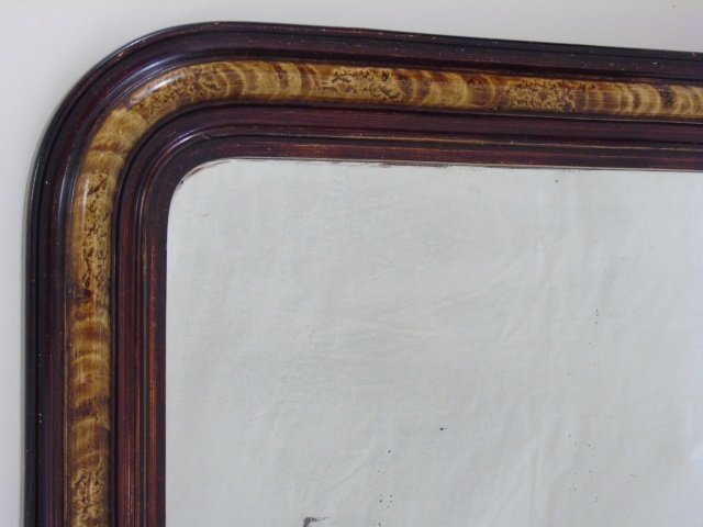 Antique Hand-Painted Louis-Philippe Style Mirror - 3