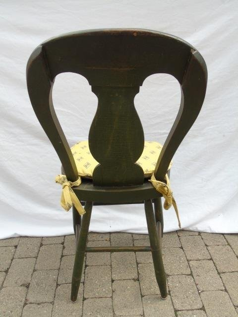 4 Matched Antique Penna Dutch Painted Side Chairs - 2