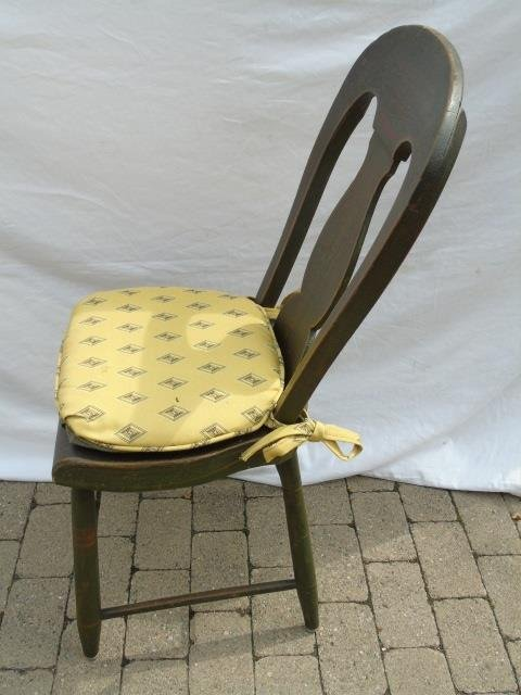 4 Matched Antique Penna Dutch Painted Side Chairs - 4
