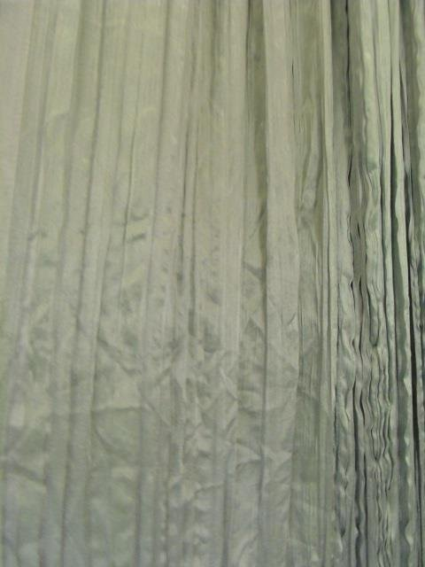 Four Custom Made French Green Silk Curtain Panels - 5