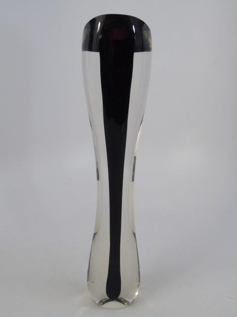 Vintage James Yarrito Blown Art Glass Vase - 2