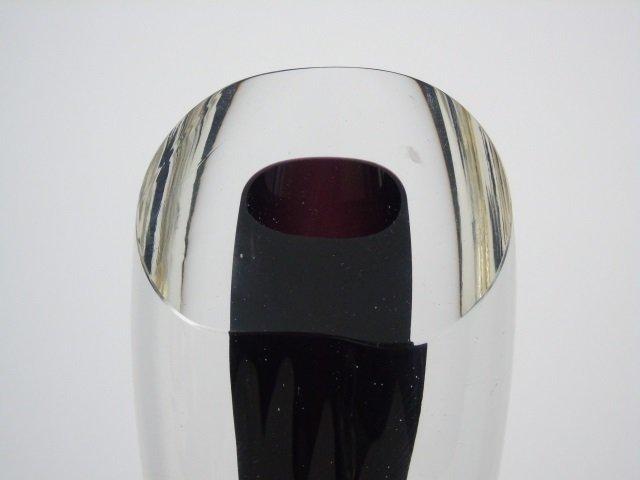 Vintage James Yarrito Blown Art Glass Vase - 3