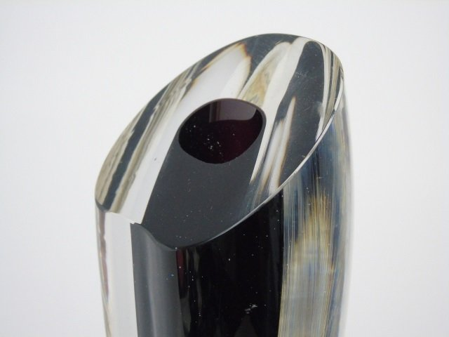 Vintage James Yarrito Blown Art Glass Vase - 4