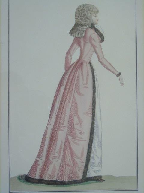 Antique Hand Colored French Empire Fashion Prints - 6