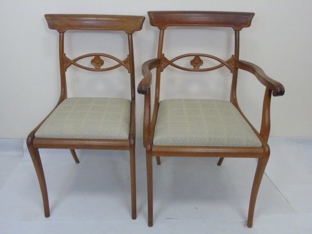 4 Antique French Provencal Style Dining Chairs - 3