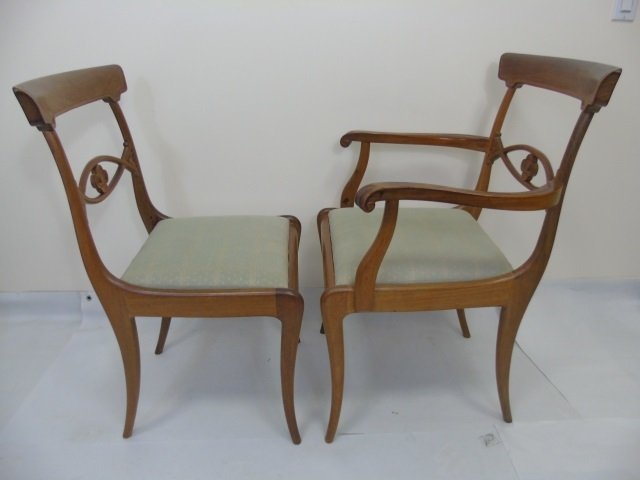 4 Antique French Provencal Style Dining Chairs - 5