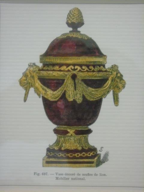 Four Framed & Matted Prints of Antique Urns - 2