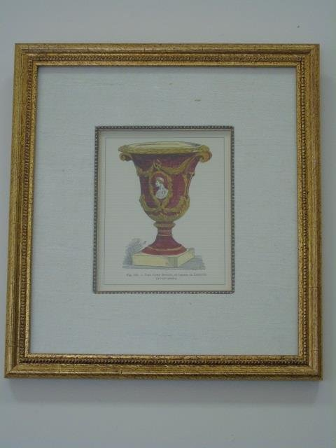 Four Framed & Matted Prints of Antique Urns - 3