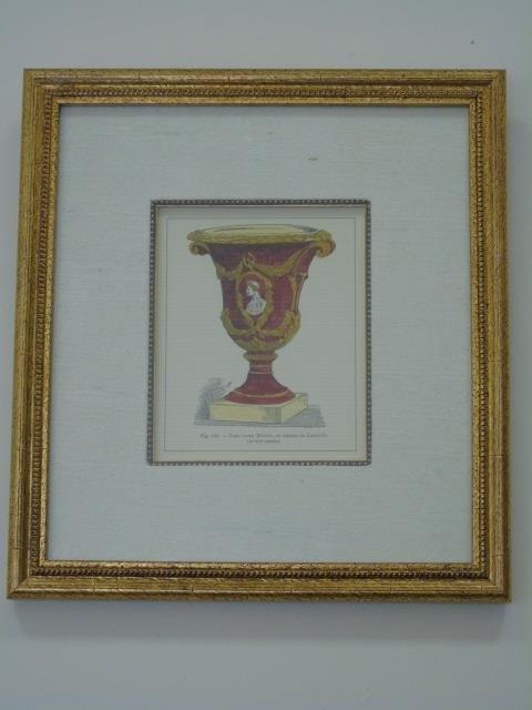 Four Framed & Matted Prints of Antique Urns - 3