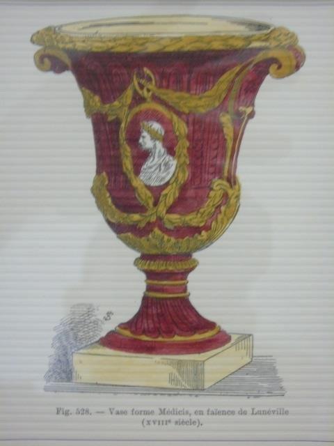 Four Framed & Matted Prints of Antique Urns - 4