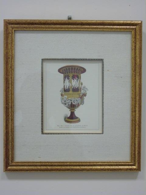 Four Framed & Matted Prints of Antique Urns - 5