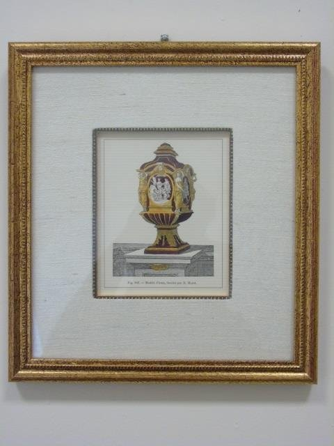 Four Framed & Matted Prints of Antique Urns - 7