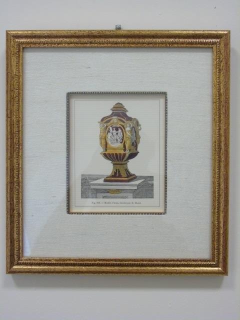 Four Framed & Matted Prints of Antique Urns - 7