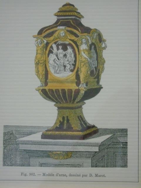 Four Framed & Matted Prints of Antique Urns - 8
