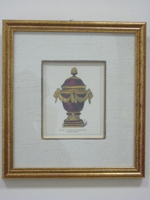 Four Framed & Matted Prints of Antique Urns - 9