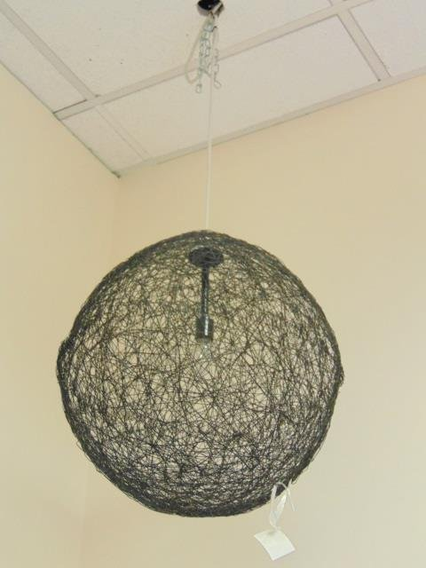 Contemporary Modern Woven Wire Chandelier